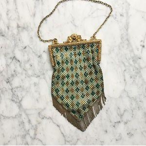 Antique 1920s Mandalian Mesh Enamel Mini Bag